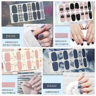 14Pcs Set Stiker Kuku 3D Nail Sticker Motif Nail Sticker Cat kuku Nail Stickers Stickers nail art Fake nails Art stickers thumbnail