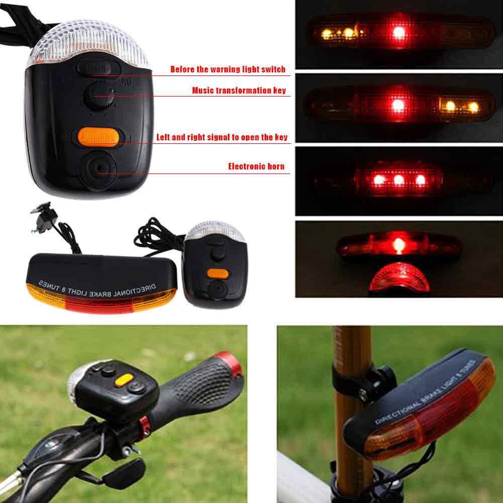 Aksesoris Sepeda Lampu Indikator Sinyal Laser Sein Belakang 5 Led 4 Mode Cahaya Plus Usb Dengan Remote Nirkabel Shopee Indonesia