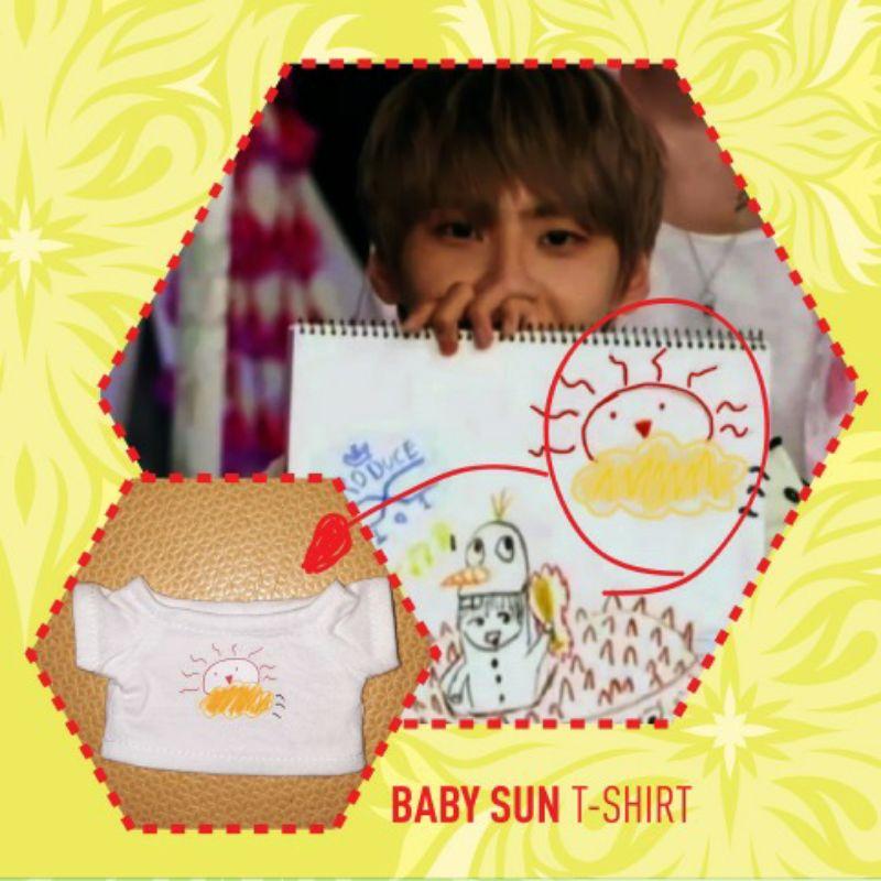 [PO] Custom Sablon Kaos BABYSUN T-shirt doll kpop 15cm 20cm