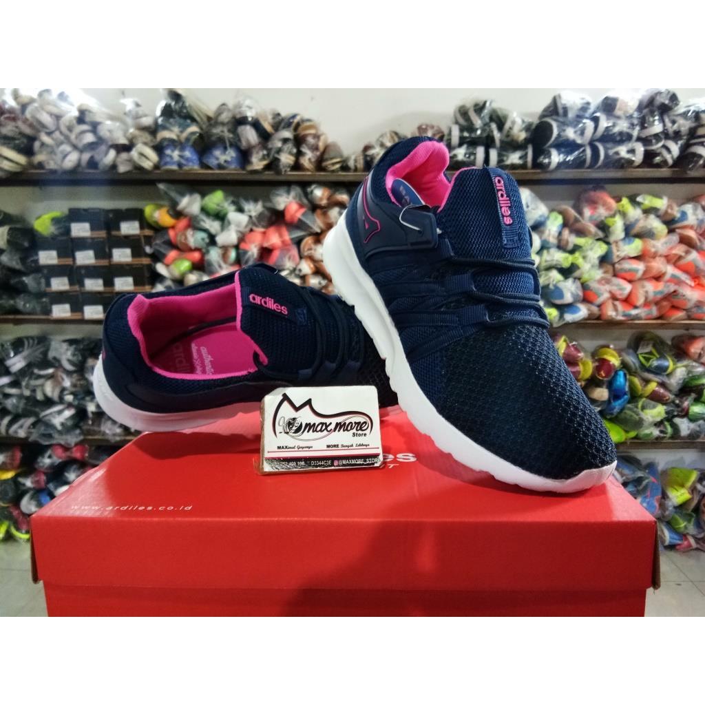 Sepatu Wanita Ardiles Shanaya Biru Navy Original Murah Estelle Women Running Shoes Hitam 38 Shopee Indonesia