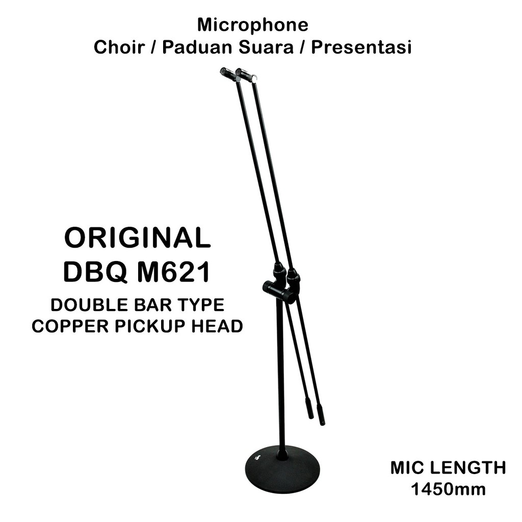 Mic Choir DBQ M621 Floor Stand Microphone Paduan Suara Speech ORIGINAL