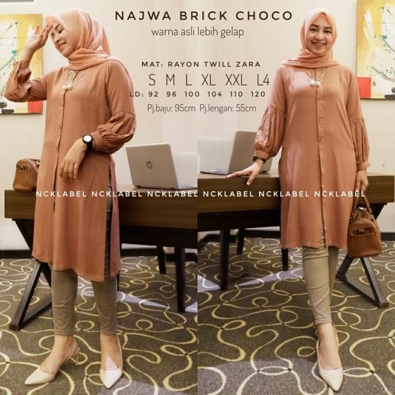 Najwa Tunik  bahan Rayon Twill Zara Ori by NCK Label