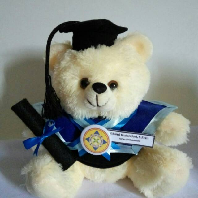 Boneka Wisuda Teddy Bear Murah Kado Graduation Hadiah Kelulusan Sidang Skripsi Gratis Ongkir Ultah Shopee Indonesia