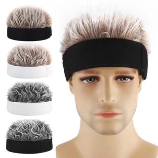 Wig Rambut Palsu Model Pendek Longgar Warna Polos Gaya Retro Hip Hop Untuk Pria thumbnail