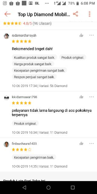 Top Up Diamond Mobile Legend Murah Resmi Via Codashop Proses 3 Menit Shopee Indonesia