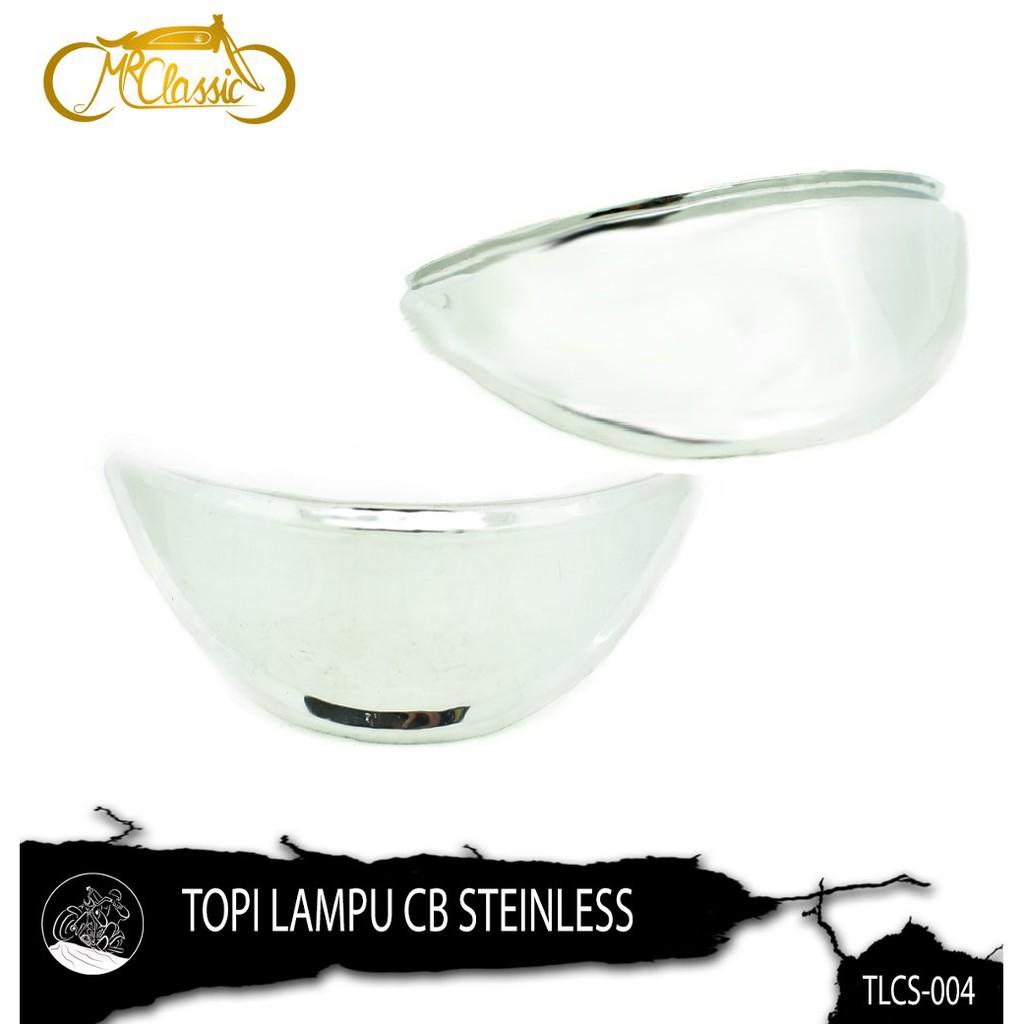 Promo Topi Lampu Cb Stainless Murah Shopee Indonesia Sen Sein Bulat Sedang