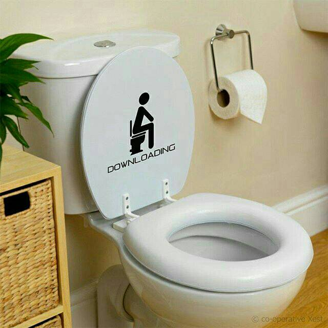 Sticker Toilet Cutting Downloading