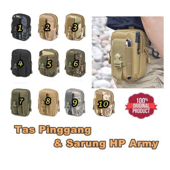 tas pinggang army + tempat botol minum tactical military loreng dan polos / waist bag | Shopee Indonesia