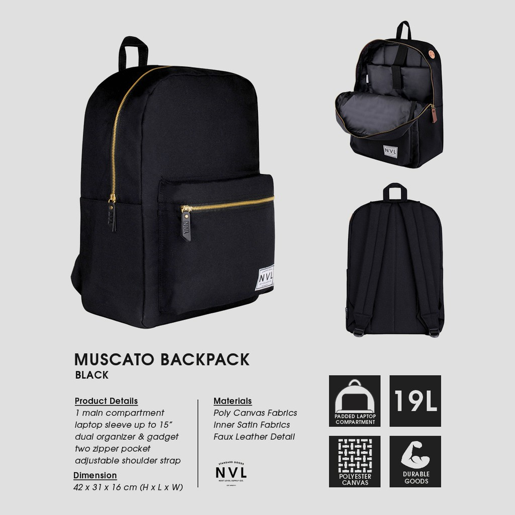 Casualbag Tas Ransel Malive Black Shopee Indonesia The Troopers Matte Backpack Bagus Ravre