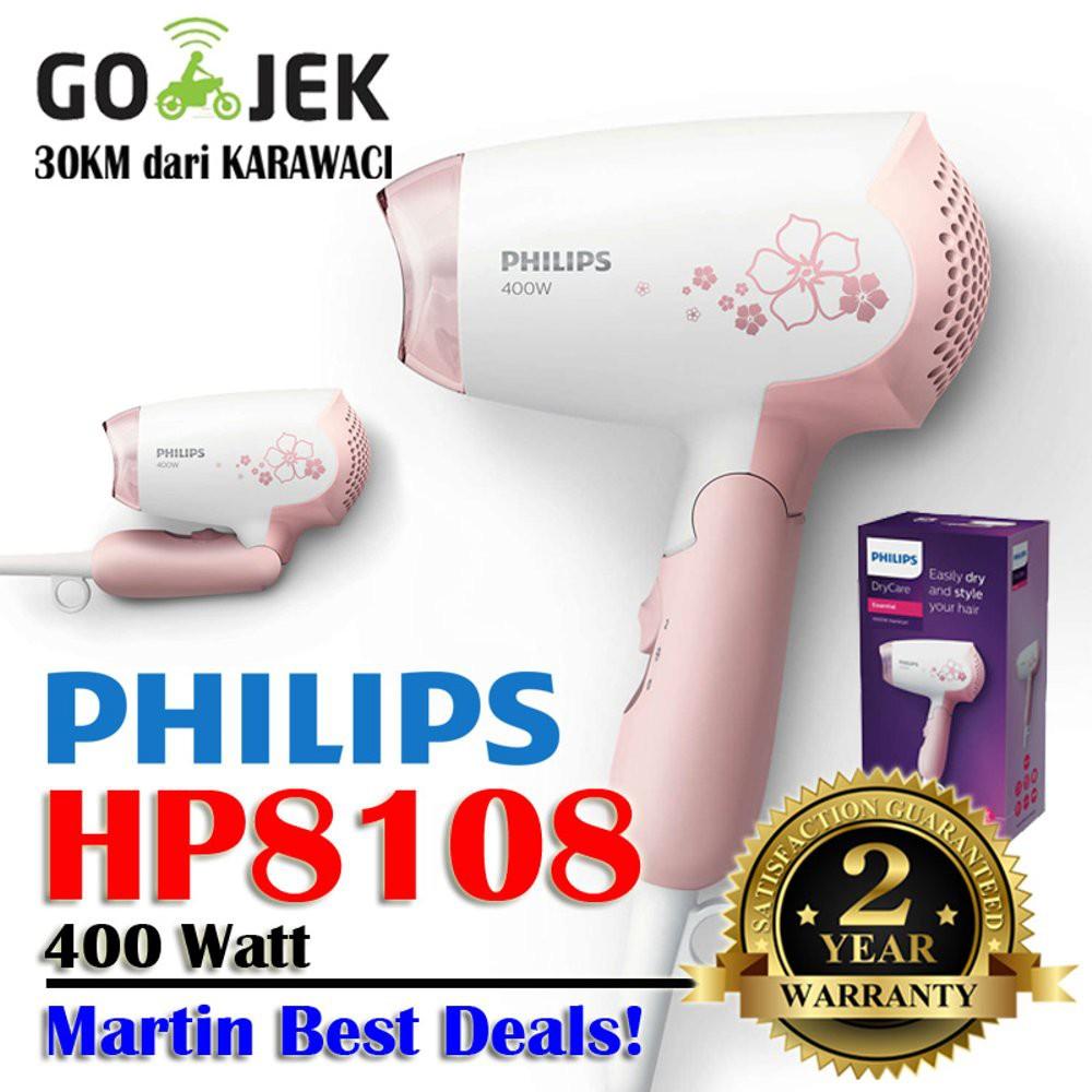 Philips Hair Dryer HP8108-02 Pengering Rambut Original - Peach ... 1c172062f8