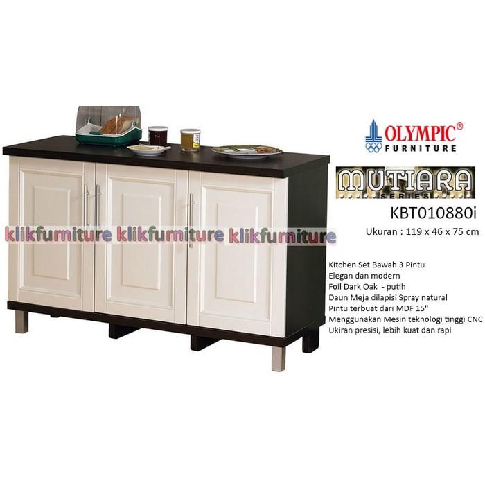 Kbt 010880i Olympic Mutiara Kitchen Set Bawah 3 Pintu Rak Piring