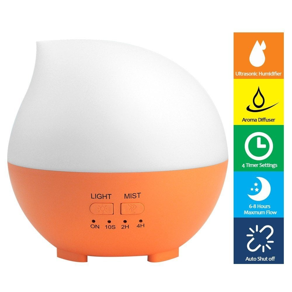 Berkualitas Waterdrop Air Humidifier Aroma Oil Diffuser Light 7 Running Text Gantungan Holder Colours 300ml Murah Shopee Indonesia
