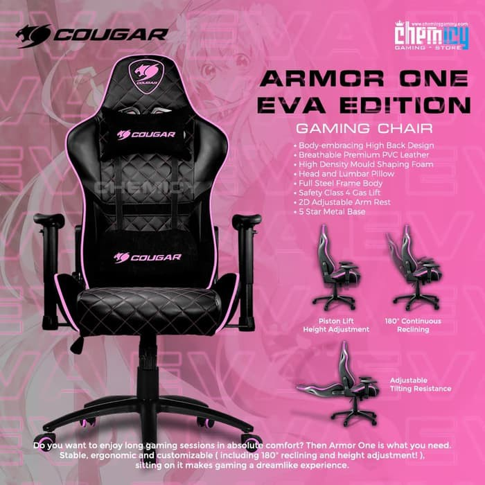 Excellent Cougar Armor One Gaming Chair Eva Pink Andrewgaddart Wooden Chair Designs For Living Room Andrewgaddartcom