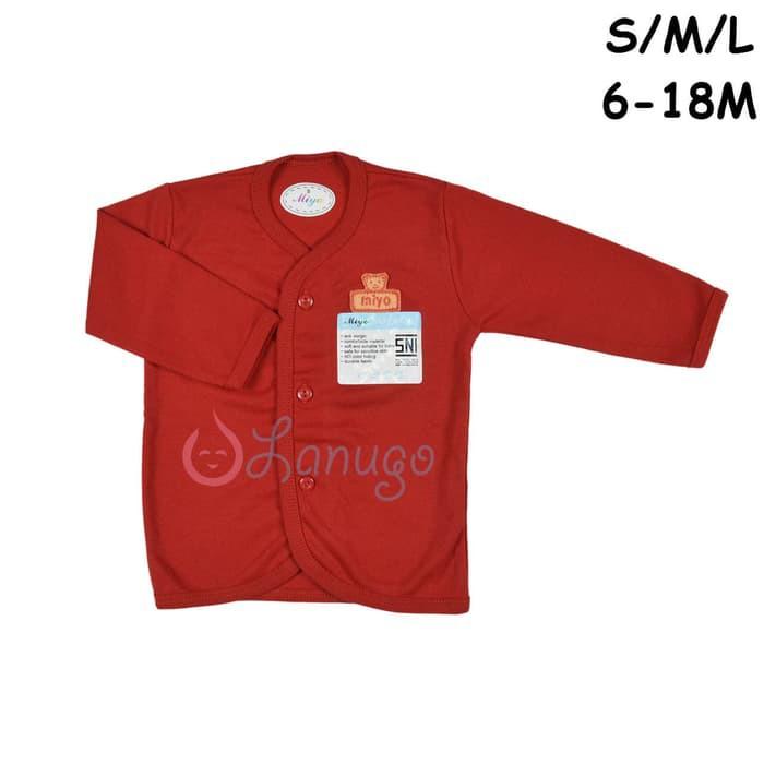 ... MIYO 1 Pcs Baju Lengan Panjang Bayi/Baby Warna Merah S-M-L (6-18M ...