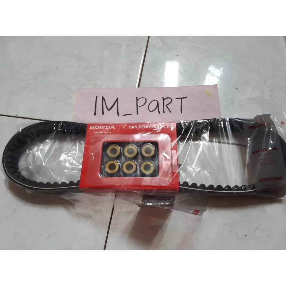 v belt - van belt plus roller beat fi esp 2015 2016 2017 beat pop vario 110 fi esp 23100-K44-BA0 | Shopee Indonesia