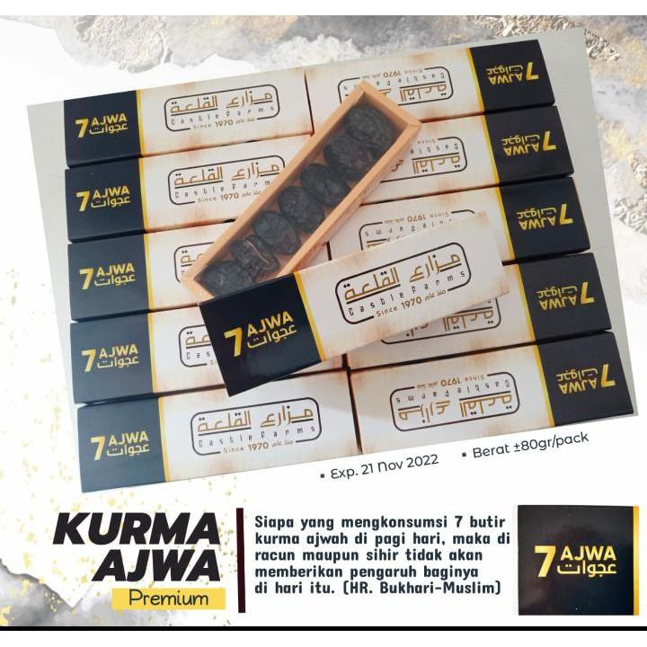 Kurma Ajwa 7 / Kurma Ajwa 7 Tujuh Butir / Ajwa Premium Organik Castle Farms
