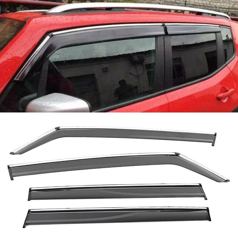 Wind Deflectors,2Pcs Window Visor Sun Rain Guard Weather Guard Car Vent Deflectors Embedded Type Tawny Fits for SEAT IBIZA 3-doors Hatchback 09-17