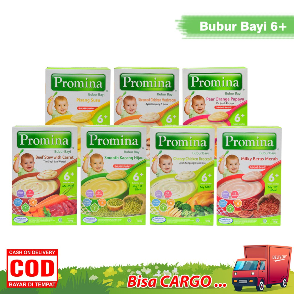 Promina Bubur Bayi 6 Bulan 120 Gr Bubur Susu Bubur Bayi Instan Shopee Indonesia