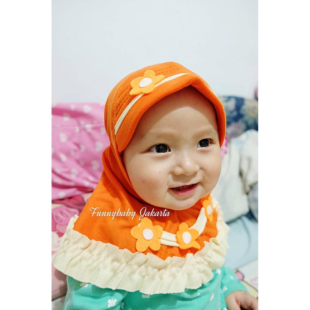 Promo Jilbab Anak Serut Bunga Lucu Kerudung Hijab Bayi Balita Bando Instan Murah Shopee Indonesia