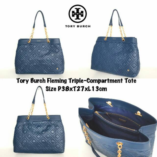 2fe41ff49d0 TORY BURCH TAYLOR TRIPLE COMPARTMENT TOTE DB404