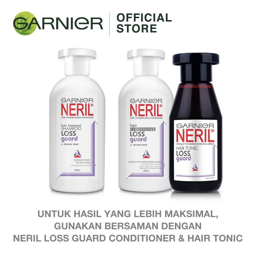 Garnier Neril Shampoo Loss Guard Hair Care - 100 ml (Perawatan Untuk Rambut Rontok)-2