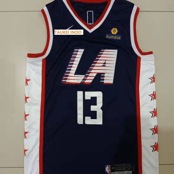 Nba Jersey Paul George Los Angeles Clippers City Edition Biru M Shopee Indonesia