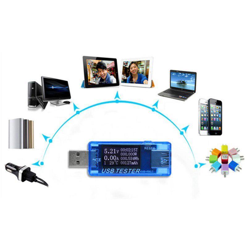 4V-30V 0-5A USB Tester Current Voltage Digital Dispay Power Bank Meter Voltmeter