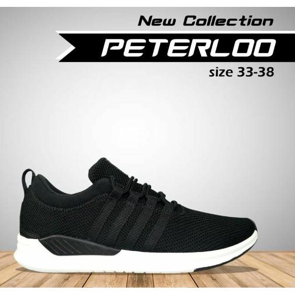 Sepatu Remaja Terbaru Tomkins Peterloo Jr Black White Sepatu