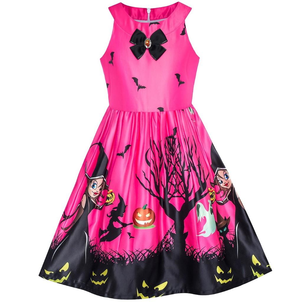 ... Baju Anak Sunny Fashion Dress Anak Perempuan Halloween Penyihir Kelelawar Labu kuning Kostum Ungu ...