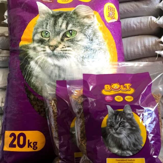 Makanan Kucing Bolt Repack 1kg Cat Food Makanan Kucing Anggora
