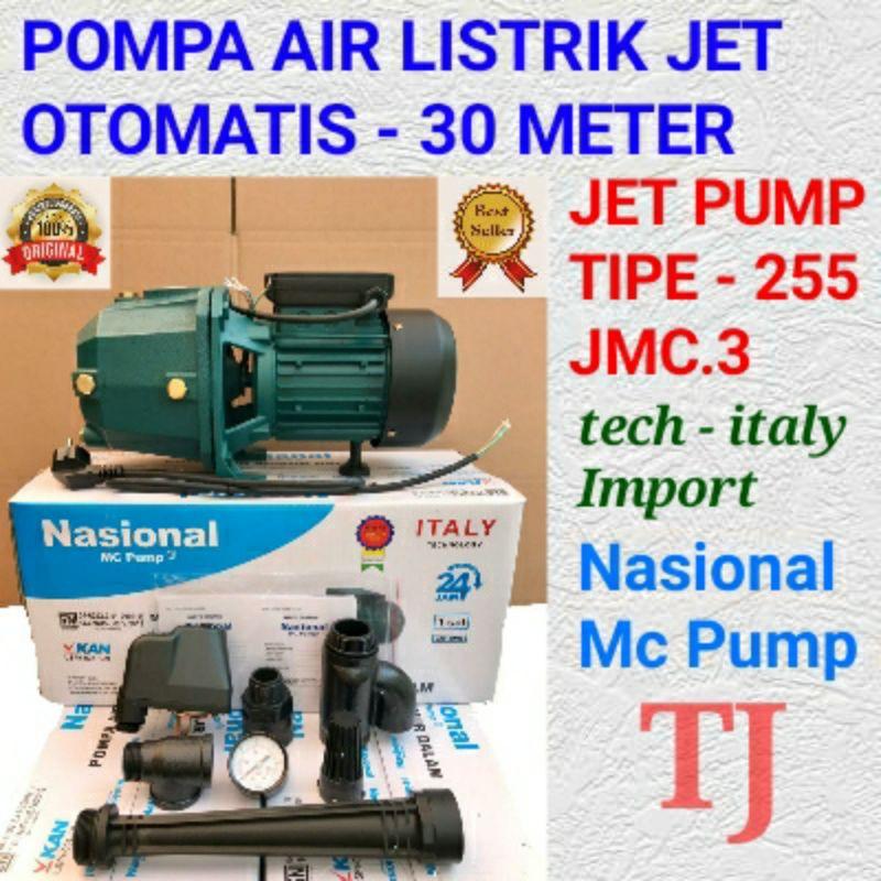 Mesin Pompa Air Otomatis Nasional Mc Jet Pump Tipe 255 30 Meter Dabavon Shimizu National Shopee Indonesia