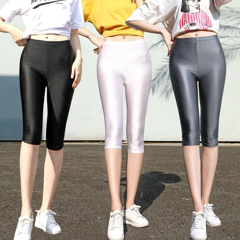 Celana Legging Panjang Wanita Model High Waist Bahan Ice Silk Tipis Elastis Untuk Musim Panas Shopee Indonesia