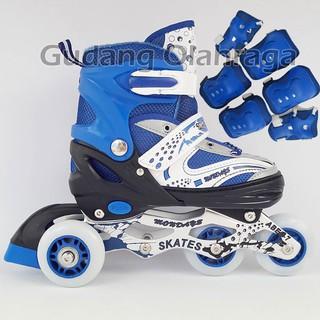 Promo Sepatu Roda BAJAJ + Deker   Pelindung Inline Skate Satu Set Gratis  Ongkir d6f1b4eb8c