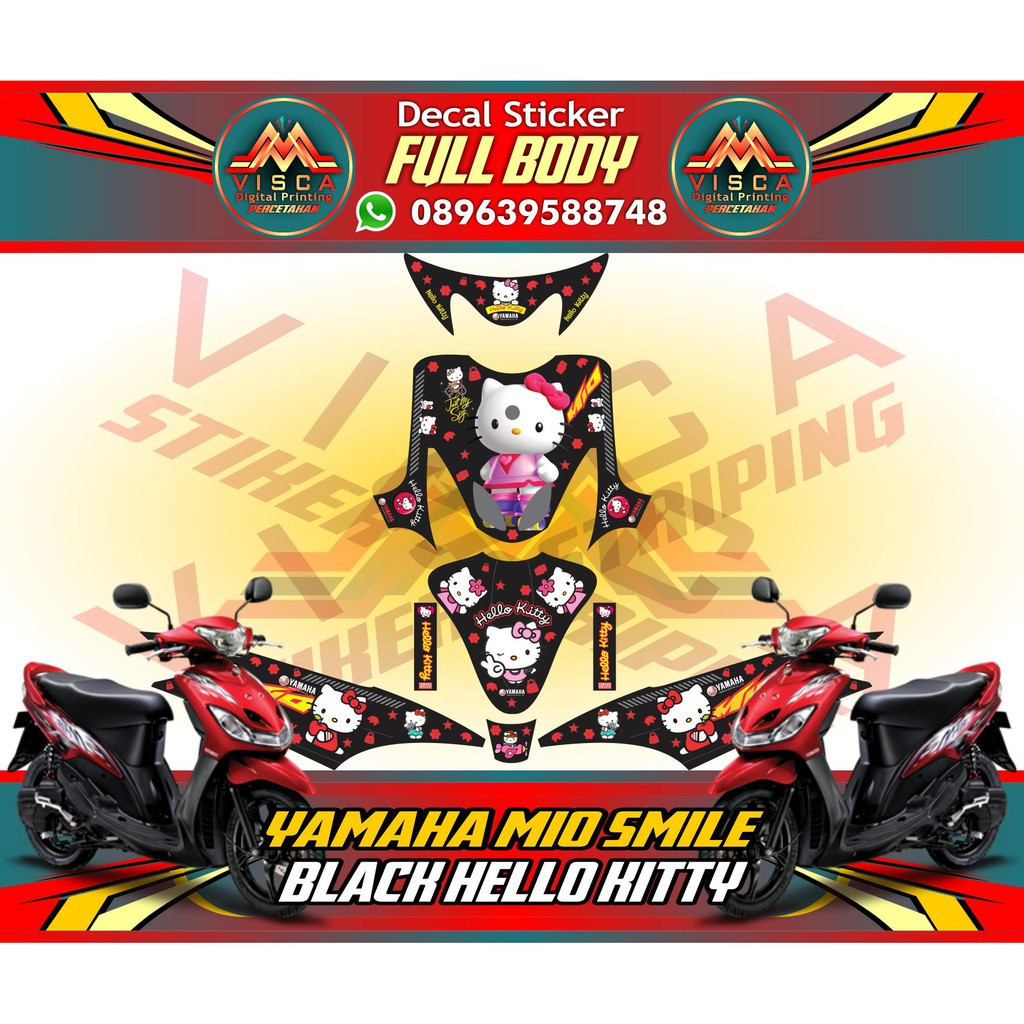 Striping motor sticker motor decal motor yamaha mio smile chelsea shopee indonesia