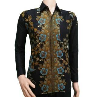 Kemeja Batik Lengan Panjang Kombinasi Baju Pria  Kemeja Kantor  Seragam Batik  Batik Solo Batik Jogja  bc8bee9845