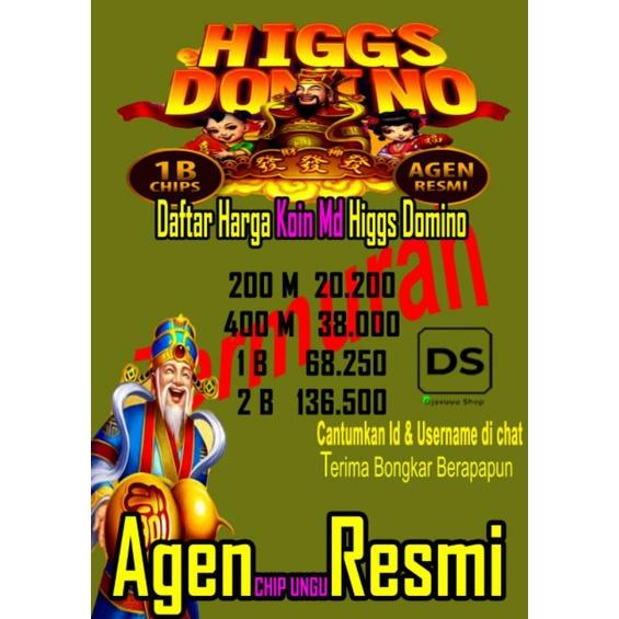 TERMURAH DIKELASNYA! Chip Higgs Domino Koin Ungu MD Agen Resmi