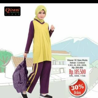 Baju olahraga muslimah Qirani fresh mawar 38