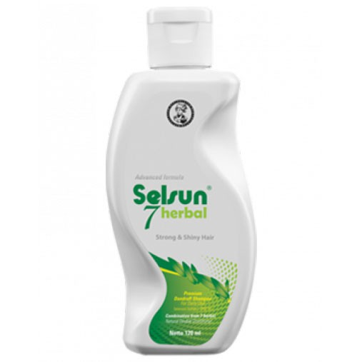 SELSUN Shampoo Conditioner Series / Sampo Anti Ketombe Blue 5 Yellow Gold 7 Herbal Flowers-SELS 7Herbal 120ml
