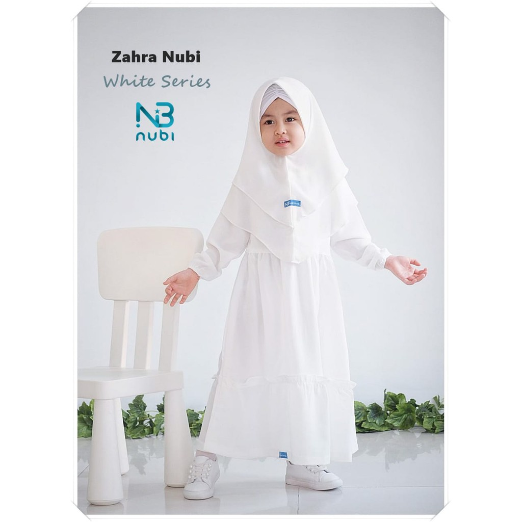 Gamis Anak Zahra White Series by NuBintang