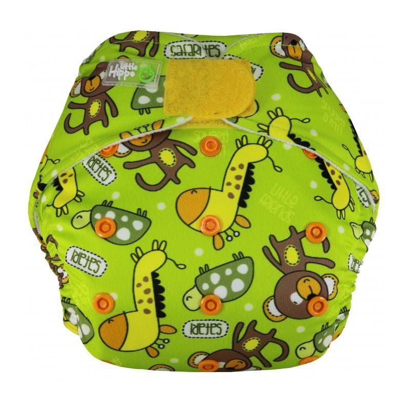 Little Hippo EasyFit Velcro Polos Lemon Clodi Popok Bayi type Pocket dengan 1 Insert Microfiber |