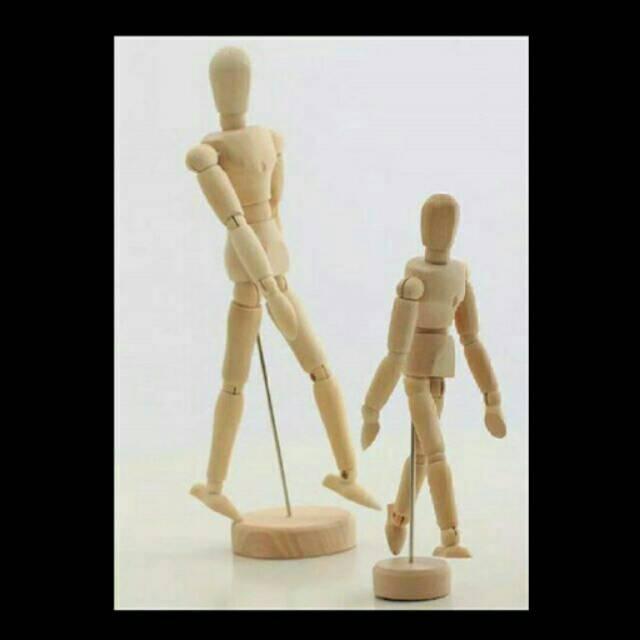 Wooden Mannequin   Manekin kayu   Alat bantu gambar   Peralatan menggambar   e8b0f4f5dd