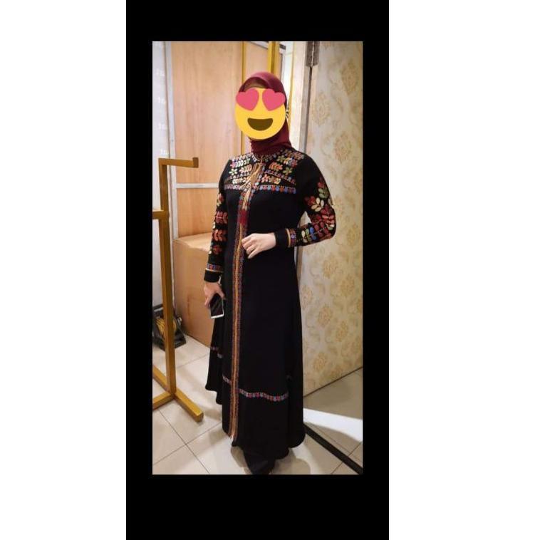 [KODE 0339] {New Arrival} Gamis Abaya Original Hikmat Fashion terbaru A5527 Black.