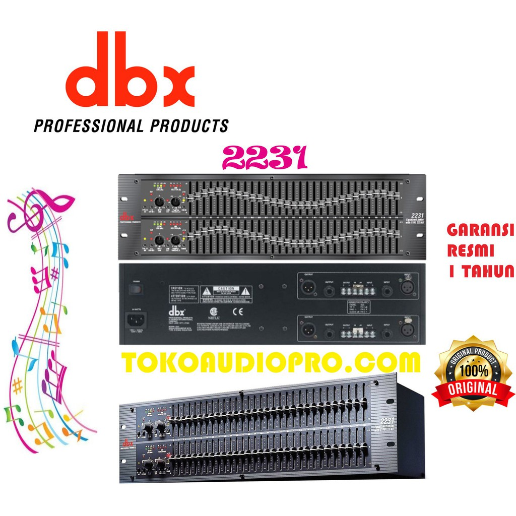 dbx2231 dbx 2231 equalizer original