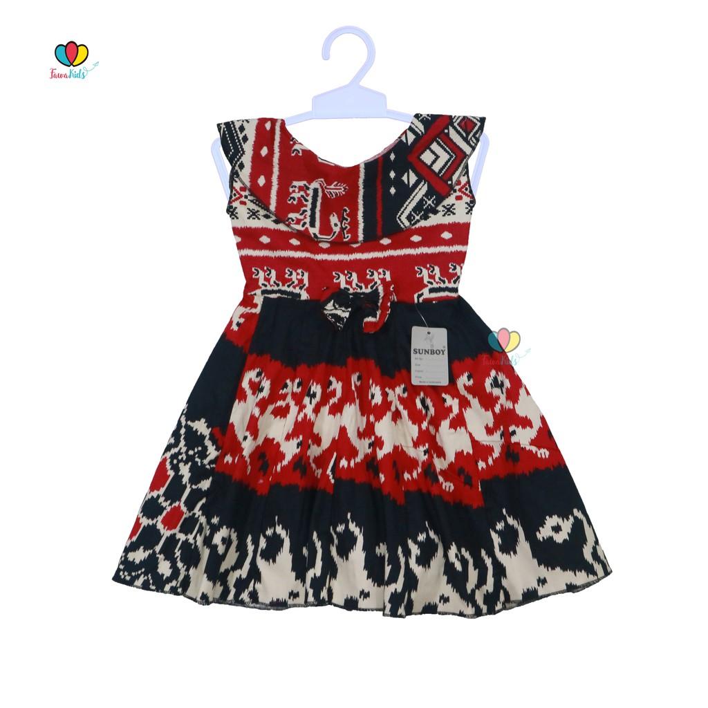 Dress Batik Anak Uk 1 3 Tahun Dres Anak Perempuan Pakaian Baju Atasan Pesta Formal Kids
