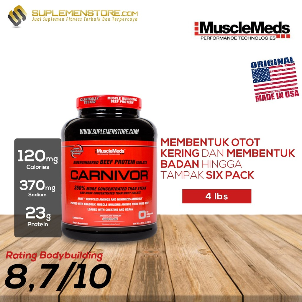 Whey Protein Musclemeds Carnivor 1 Kg Beef Eceran Amino 300 Tabs Aminocarnivor Suplemen Gym With Bcaa N Creatine Free Shaker Shopee Indonesia