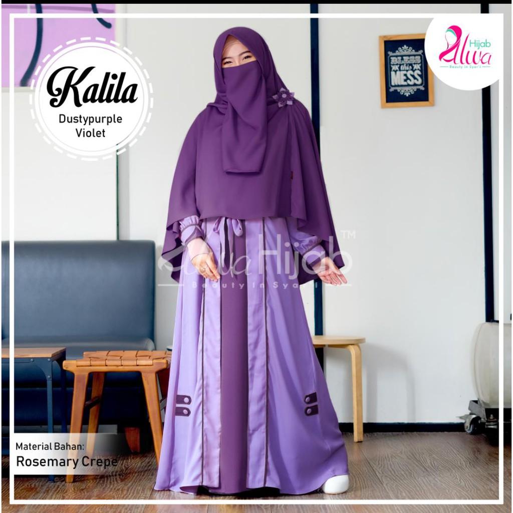Gamis Alwa alila abaya set syari dewasa dengan desain simple dan elegan  ecer dan grosir murah
