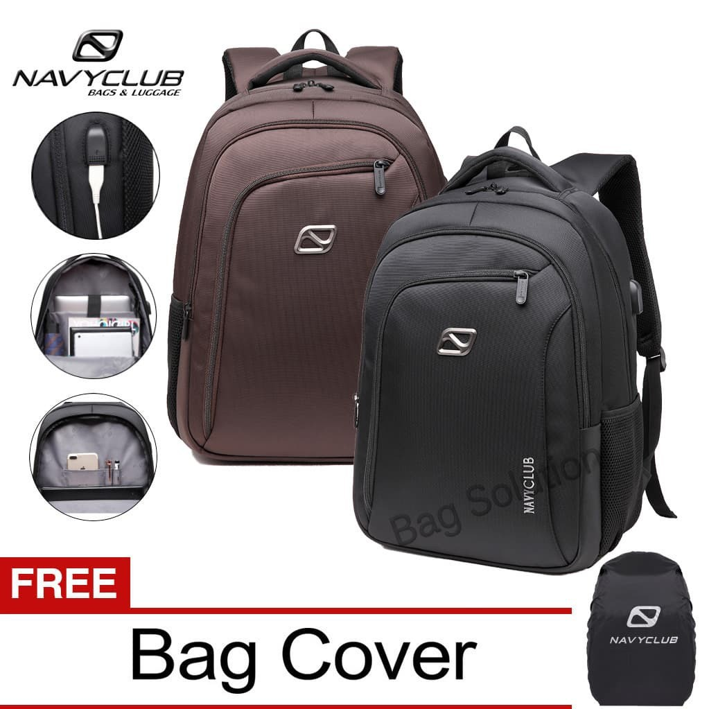 ... Bonus Bag Cover -. Source · Real Polo Tas Ransel . Source · Navy Club Ransel Laptop built in USB Charger Upto 15inch Free BagCover | Shopee Indonesia