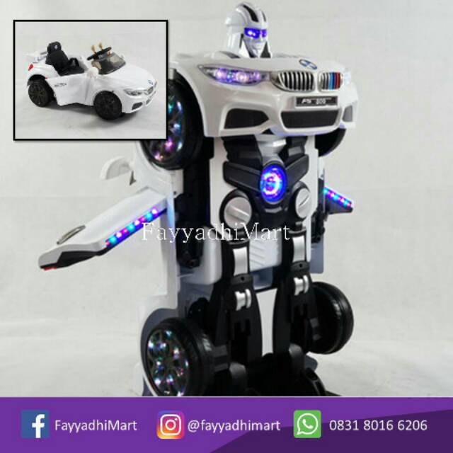 Mobil Mobilan Anak Aki Accu Bmw Transformers Shopee Indonesia