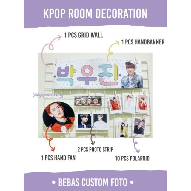 Paket Hemat Kpop Grid Wall Kpop Kpop Room Decor Polaroid Exo Banner Bts Kipas Starykids Shopee Indonesia