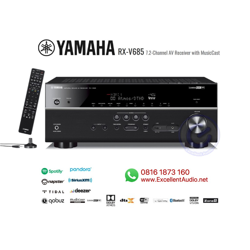 Yamaha RXV9 RXV 9 RX 9 V9 ampli home theatre amplifier DTS Dolby